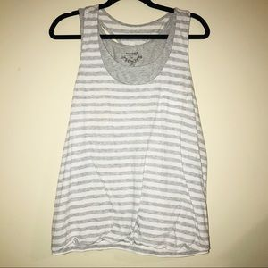 Sonoma Layered Gray & White tank ~ PB5